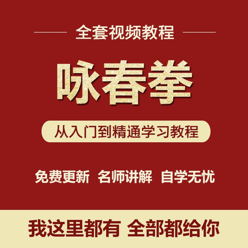 K048-咏春拳视频教程武术基本功实战全套入门自学零基础学习教程视频